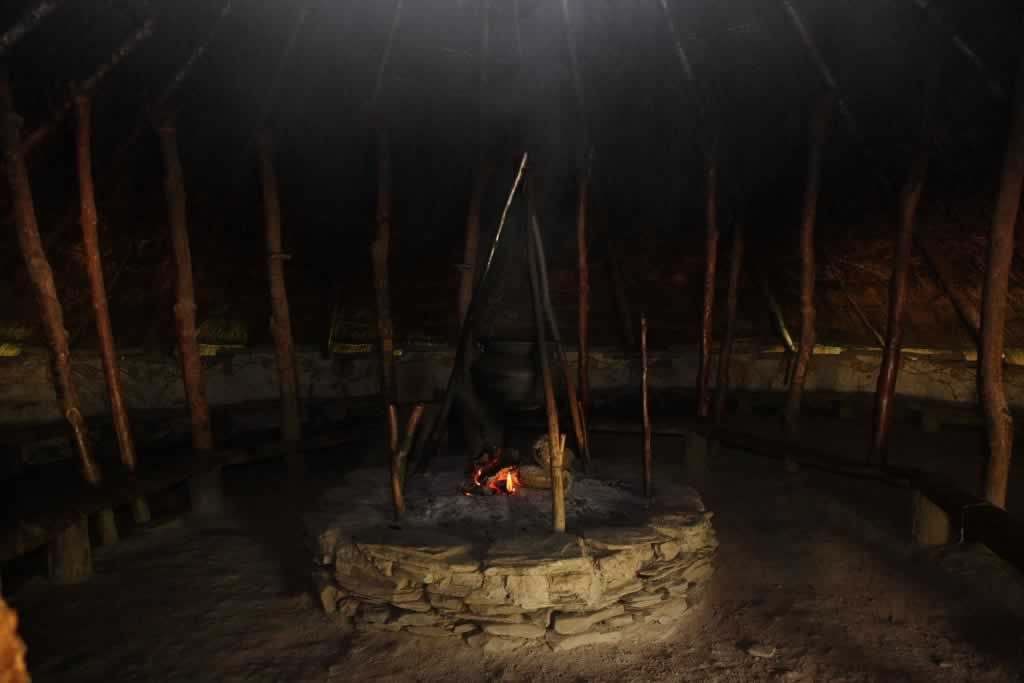 Hearth inside a Celtic Roundhouse