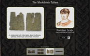 Link to Vindolanda Tablets - Image of Vindolanda Tablets