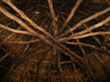 Photograph of the internal roof structure at Castell Henllys